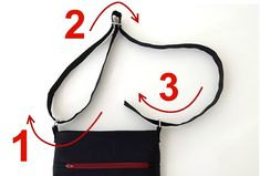 How to make an adjustable bag strap for any bag you want! A must-see techinque that will help you make bags everybody will love. Diy Adjustable Purse Strap, Pencil Case Pouch, Pencil Cases, How To Make Purses, Making Purses, Bag Making, Interfacing Fabric, Zipper Pouch Tutorial, Purse Tutorial