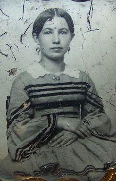 c1855 ANTIQUE AMBROTYPE VICTORIAN ETHNIC DRESS LADY GIRL HARWOOD UTICA NY | eBay