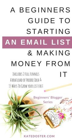 A Beginner's Guide to Starting An Email List From Scratch & How to Making Money From Your Email List (without feeling like a dirty rotten spammer-face). Complete with two email marketing sales funnel, welcome series, email ideas, freebie ideas and so much E-mail Marketing, Frases Marketing, Email Marketing Design, Email Marketing Strategy, Email Design, Marketing Digital, Business Marketing, Online Marketing, Internet Marketing