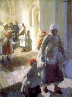 Christmas Morning Service Anders Zorn (1860 – 1920, Swedish)