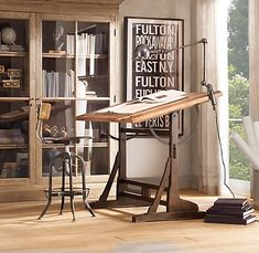 Be still my heart! THIS is the drafting table I've been dreaming of and searching for for the last year (and beyond!) 1920s French Drafting Table