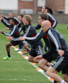 Training with Liverpool FC - Look at the pose of Raheem Sterling :)