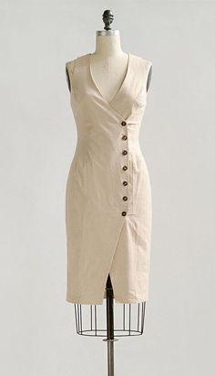 Vintage Inspired Dresses / Natural Linen Midi Dress / Sofia Dress