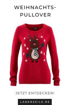 31fbbfd85737fd Lustige Weihnachtspullover für Damen findest du auf LadenZeile. In  kuscheligen Strickpullovern kannst du dich weihnachtlich