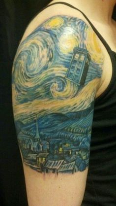 "Community Post: 50 Fantastic ""Doctor Who"" Tattoos<<< these are so cool. I don't think I'd get anything this big, but maybe a hidden TARDIS or something like that."