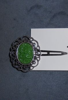 Antique Style Green Hair Clip by taizee on Etsy, $5.50