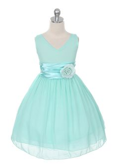 Mint Chiffon Flower Girl Dress @Holly Jeffers