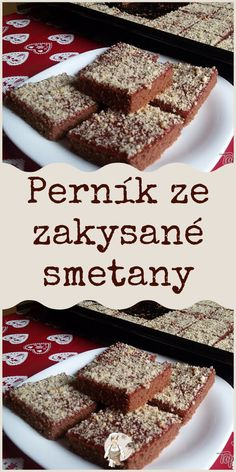 Perník ze zakysané smetany Sweet Desserts, Amazing Cakes, Banana Bread, French Toast, Food And Drink, Sweets, Baking, Breakfast, Healthy