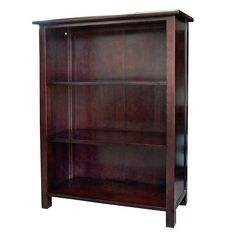 Organize your books and more with this three-shelved Austin birch wood bookcase. Features a dark wood finish that will match perfectly with any type of decor in your home.
