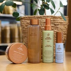 Lockdown Haircare Emergency Kit: Four Reasons Nature products - Rebuild Shampoo - Rebuild Treatment - Volume Texture Mist - Moisture Oil Shop: fourreasons. Oil Shop, Tomorrow Will Be Better, Dancing In The Rain, Mists, Hair Care, Shampoo, Moisturizer, Texture, Products