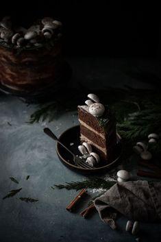 Spiced Hot Chocolate Layer Cake - The Kitchen McCabe Dark Chocolate Chips, Melting Chocolate, Chocolate Cake, Dark Food Photography, Cake Photography, Nake Cake, Dessert Recipes, Desserts, Chocolate Recipes