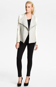Truth and Pride Leather Sleeve Moto Jacket | Nordstrom
