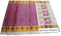 Beautiful Ikat silk saree in dupion finish. Code: ISB7008 Write to ikkatsareesbangalore@gmail.com or inbox the message. Contact : +918792177606 www.facebook.com/ikkatsareesbangalore
