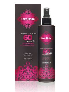 FakeBake 60 Minute Tan: Keep this 60 minute liquid tan in your beauty bag for body bronzing emergencies. $31.99; fakebake.com