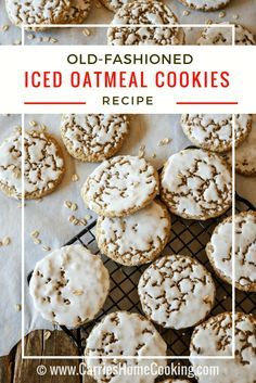 My Old-Fashioned Iced Oatmeal Cookies are just like grandma used to make, with crisp edges, soft centers, perfectly spiced oatmeal goodness just begging for a tall glass of milk.