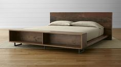 Atwood King Bed with Bookcase in Atwood Beds | Crate and Barrel
