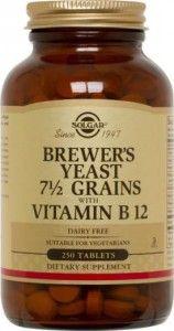 Brewer's Yeast 7 Grains Tablets with Vitamin Solgar Vitamins, Minerals, and Herbs. Brewers Yeast, Vitamin B12, Amino Acids, Dairy Free, Herbalism, Grains, Vitamins, Vegetarian, Herbs