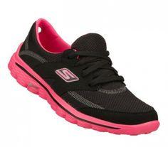 Go Walk Shoes For Women | Skechers Go Walk 2 Stance Women's Lace Up Walking  Shoes