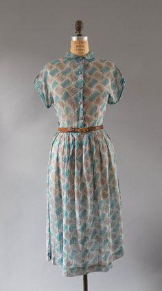 1950s Dress / Graphic Art Dress / 50s by wildfellhallvintage, $86.00