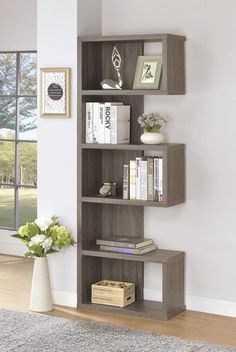 Modern Whimsical Design Weathered Grey Display Bookcase, Gray - New Deko Sites Coaster Furniture, Home Decor Furniture, Furniture Design, Furniture Ideas, Smart Furniture, Metal Furniture, Handmade Wood Furniture, Furniture Board, Furniture Stores