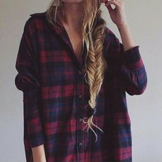 Oversized Flannel Shirt Grunge Outfit Idea - http://ninjacosmico.com/get-best-flannel-shirts/