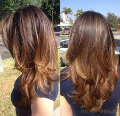 Beautiful long layers for thick hair.