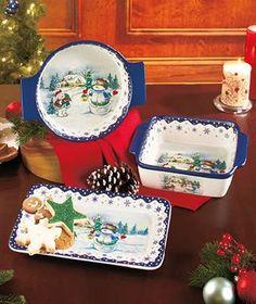 Holiday Bake & Serveware SET Blue