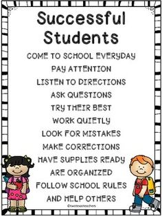 FREE Successful Students Poster For The Classroom #education