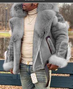 Fur Jacket, Fur Coat, Plus Size Winter Jackets, Fur Collars, Casual, Suede Leather, Mens Fashion, Long Sleeve, Zip