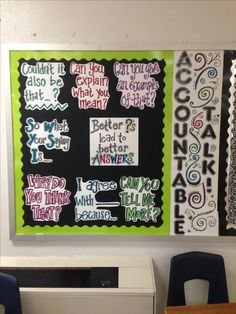 Accountable Talk bulletin board... Goes well with Quality Questioning and my other favorite, Academic Conversations!