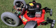 Lawn Mower, Outdoor Power Equipment, Remote, Building, Grass Cutter, Buildings