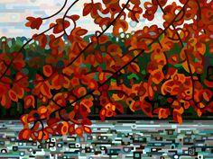 Abstract Landscape Painting - Mandy Budan: Maple Lake