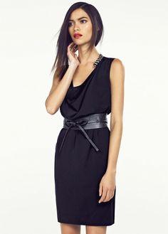 Beaded neck dress