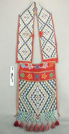Loom-beaded bandolier bag, possibly Menominee or Potawatomi, Great Lakes region, late nineteenth century | Flickr - Photo Sharing!