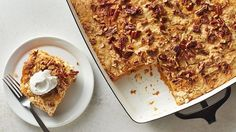 """An easy fall cake that is """"dumped"""" into a pan and baked."""