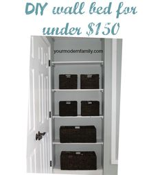 {VIDEO} DIY Murphy bed for under $150 � with plans