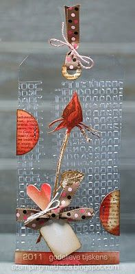 StampingMathilda: Acetate Tag - Rose  From Pinner: I have an old acetate postcard. Love this new tag too!