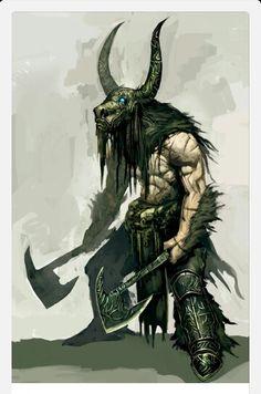 Thinking Minotaur battle shaman. Something I will have to build later.