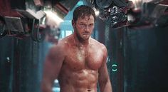 chris pratt shirtless in guardians of the galaxy trailer february 2014 gif