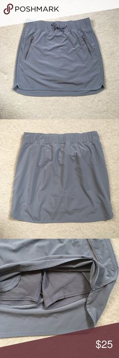 Stretch in Skort Super cute gray skort, perfect for on the golf course or around the town! In excellent condition! I bought this from another Poshmark account but it was too tight  let my loss be your gain!  Athleta Shorts Skorts