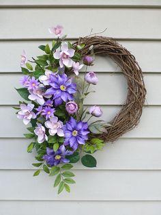 Spring Wreath Summer Door Wreaths Front Door Decorations
