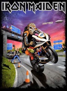 Iron Maiden new Tour shirt 2017 Iron Maiden Album Covers, Iron Maiden Cover, Iron Maiden Albums, Iron Maiden Band, Dave Murray, Bruce Dickinson, Heavy Metal Rock, Heavy Metal Bands, Newcastle