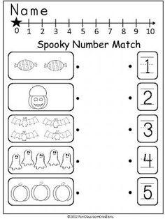 Halloween Song and Free Printable Halloween Math Worksheet