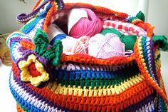 Bees and Appletrees (BLOG): haken op donderdag: uitleg gehaakte tas - crochet on thursday: summerbag tutorial