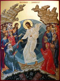 """Christ is Risen!"" Easter Greetings in Many Languages Byzantine Icons, Byzantine Art, Religious Icons, Religious Art, Orthodox Easter, Christ Is Risen, Archangel Raphael, Orthodox Icons, Angel Art"