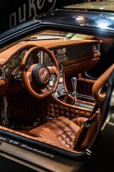 Only 50 examples of the all-aluminum, 532 hp spitfire will be available to pilot… Custom Car Interior, Car Interior Design, Truck Interior, Luxury Sports Cars, New Sports Cars, Best Luxury Cars, Automotive Upholstery, Car Upholstery, Cars Motorcycles