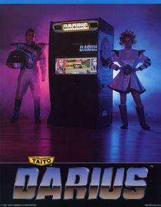 Darius arcade game ad, Taito 1987 (via Arcade Museum)