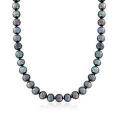 The classic pearl strand necklace gets a chic, modern update in an edgy shade of black. The piece features 8-9mm black cultured freshwater pearls in near-round shapes. Necklace fastens with a 14kt white gold ball clasp. Free shipping & easy 30-day returns. Fabulous jewelry. Great prices. Since 1952.