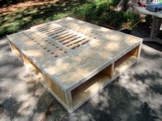 This guy has modifications to Ana White's plan for the queen storage bed, and some tips too.