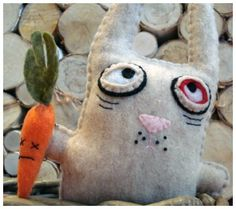 A friend for my zombie bunny? Amazing Handmade Zombie Plush Dolls & Toys To Un-Die For | Disney Baby